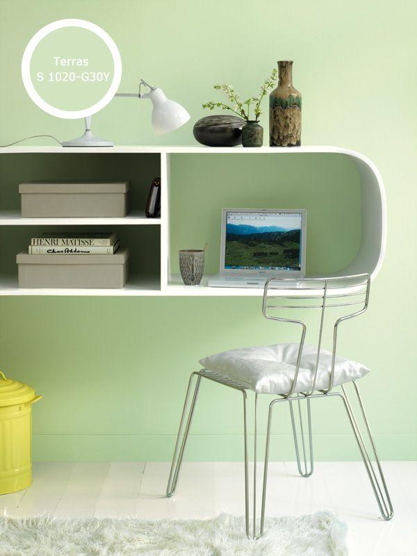 Kleur van de maand groen sprong 39 s verf en kleurmakerij - Kleur van de muur kamer verf ...